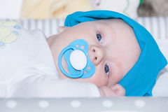 Adorable three month old baby Royalty Free Stock Image