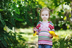Adorable toddler in an autumn park Royalty Free Stock Images