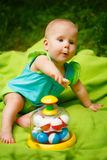 Adorable Toddler Baby Girl playing Royalty Free Stock Photo
