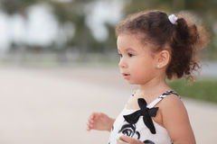 Adorable toddler on the beach Stock Photos
