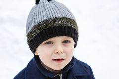 Adorable toddler boy on beautiful winter day Royalty Free Stock Photography
