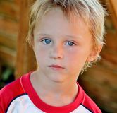 Adorable Toddler Boy with Stunning Blue eyes Royalty Free Stock Image
