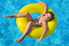 Adorable toddler girl at beach Royalty Free Stock Photos