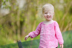 Adorable toddler girl on beautiful summer day Royalty Free Stock Photo