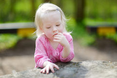 Adorable toddler girl on beautiful summer day Royalty Free Stock Images