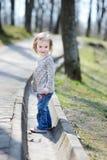 Adorable toddler girl having a walk Stock Photo