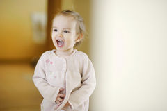 Adorable toddler girl laughing Stock Photography