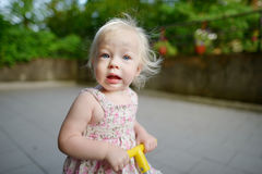 Adorable toddler girl making funny face Royalty Free Stock Images