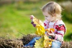 Adorable toddler girl outdoors Stock Photos