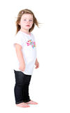 Adorable toddler girl portrait. With hair blowing Stock Photo