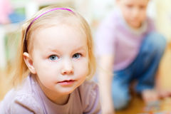 Adorable toddler girl portrait Stock Photography