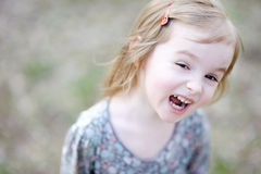 Adorable toddler girl portrait outdoors Royalty Free Stock Image