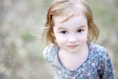 Adorable toddler girl portrait outdoors Royalty Free Stock Photography