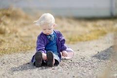Adorable toddler girl portrait at summer Stock Photos
