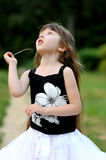 Adorable toddler girl with very long dark hair Royalty Free Stock Photography