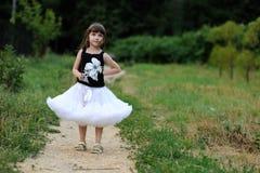 Adorable toddler girl with very long dark hair Royalty Free Stock Photos
