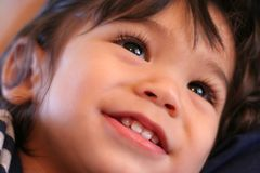 Adorable toddler smiling Stock Photo
