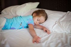 Adorable toddler taking a nap Royalty Free Stock Photography