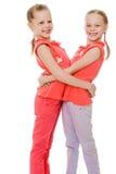 Adorable twin girls Stock Image