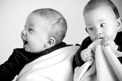 Adorable twins Stock Photo