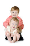 Adorable two children - sister and brother Stock Images