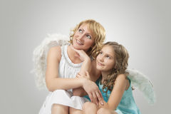Adorable two lovely angels Royalty Free Stock Images