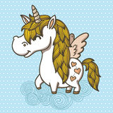 Adorable Unicorn Stock Photography