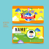 Adorable vector business card set. Template design Stock Image