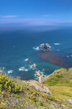 Adorable View of Coastline in Big Sur,California, United States. Vertical Image Stock Image