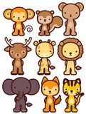 Adorable wild animal character Stock Images