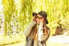 Adorable woman in sunglasses Stock Photos