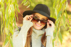 Adorable woman in sunglasses Stock Photography