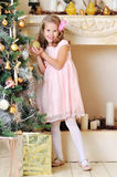 Adorable 7 year old blond girl stock images