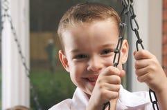 Adorable Young Boy Smiles Stock Photo