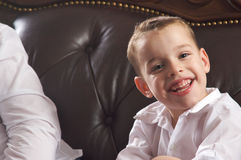 Adorable Young Boy Smiles Stock Photos