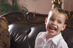 Adorable Young Boy Smiles stock images