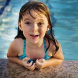 Adorable young child having fun on holiday royalty free stock photos