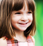 Adorable young child playing outside Royalty Free Stock Images