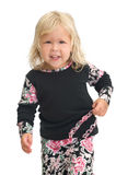 Adorable young girl. Adorable smiling happy young blond girl Royalty Free Stock Photography