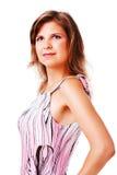 Adorable young girl in dress Stock Photos