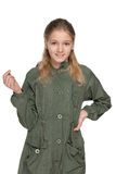 Adorable young girl in a jacket Stock Image