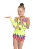 Adorable young gymnast , close-up Royalty Free Stock Photography