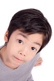 Adorable young happy boy looking at camera Stock Photography