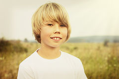 Adorable young happy boy Royalty Free Stock Images