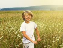 Adorable young happy boy Royalty Free Stock Photos