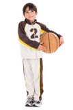 Adorable young kid in his sports dress Stock Photography