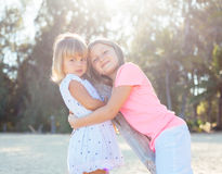 Adorable young sisters Royalty Free Stock Image