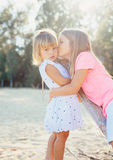 Adorable young sisters Stock Image