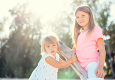 Adorable young sisters Royalty Free Stock Images