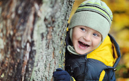 Adorabli Spielen kleinen Jungen Stockfotos